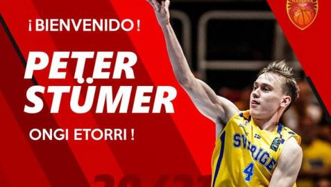 El Basket Navarra ficha al joven sueco Peter Stümer