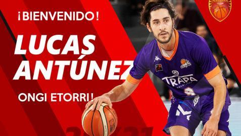Imagen de Lucas Antúnez que ha compartido el Basket Navarra en sus redes sociales.
