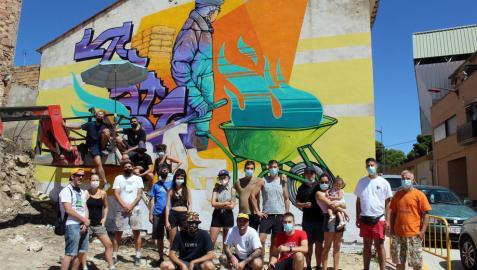 El arte crece en las calles de Cascante