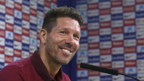 Diego Simeone, en rueda de prensa.