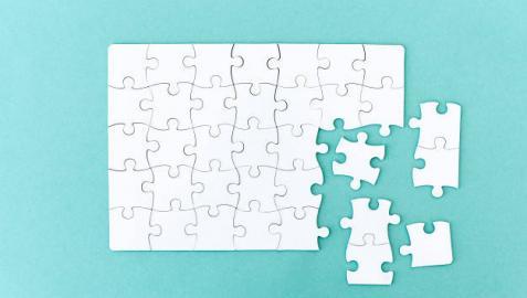 Imagen de las piezas de un puzle