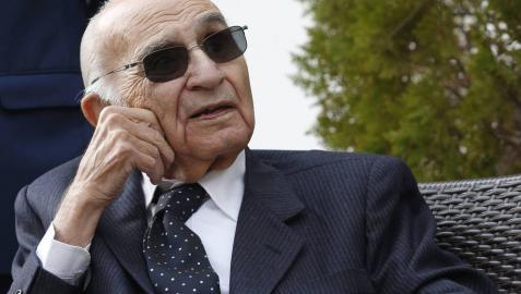 El poeta Francisco Brines en un homenaje celebrado en 2019 en su casa de Oliva