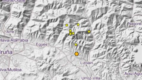 Tres pequeños temblores sacudieron la zona de Lizoáin este viernes por la tarde