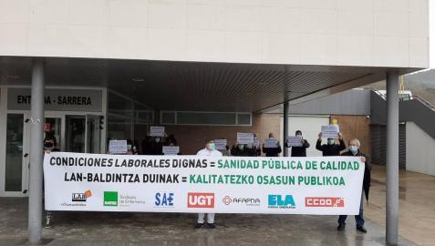 Los sindicatos denuncian vulneración de derechos en el Servicio Navarro de Salud