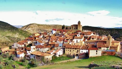 Imagen panorámica de la localidad de Luco de Bordón, en Teruel
