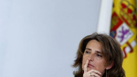 La ministra de Transición Ecológica, Teresa Ribera, en rueda de prensa tras el Consejo de Ministros.