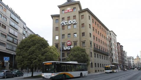Vidaurre Construcciones negocia la permuta del edificio de UGT y CC OO