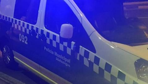 Un coche patrulla de la Policía Municipal de Pamplona.