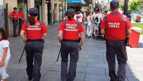 La Policía Foral desplegará 90 agentes el día 6 en Pamplona