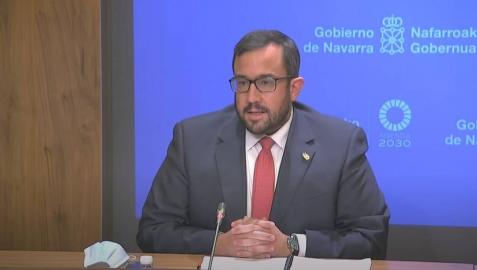 Javier Remírez, en la rueda de prensa.