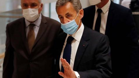 Sarkozy a su llegada a la corte donde ha sido juzgado por corrupción y tráfico de influencias