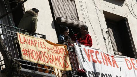 Al menos seis detenidos en el desahucio de cuatro familias en Lavapies