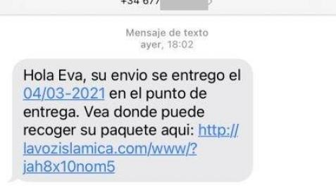 Policía Foral alerta de falsos sms que simulan ser empresas de paquetería
