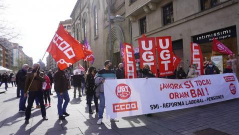 UGT y CC OO se movilizan por la subida del SMI y contra la reforma laboral