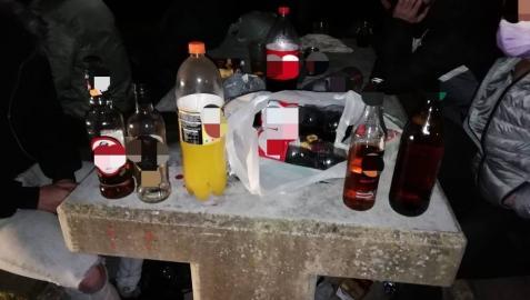 Quince detenidos por un botellón en Oteiza y otros cuatro, en Lesaca