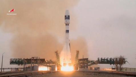 Lanzamiento anterior de otro satélite desde el cosmódromo de Baikonur (Kazajistán).