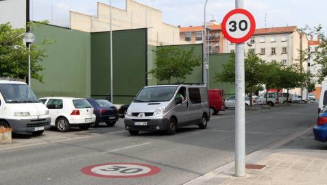 Señales para ir a 30 km/h en Pamplona, ¿funcionan?