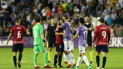 Imagen del Valladolid-Osasuna jugado el dos de junio de 2018.