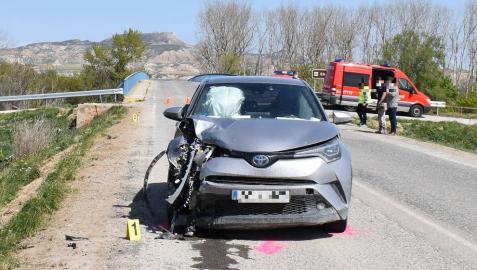 Dos jóvenes heridas graves tras ser arrolladas por un coche en Buñuel