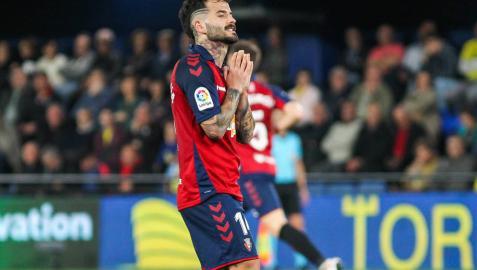 Rubén García se lamenta durante el último partido en La Cerámica.