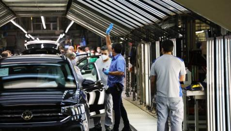 Imagen de la vuelta al trabajo en Volkswagen Navarra.