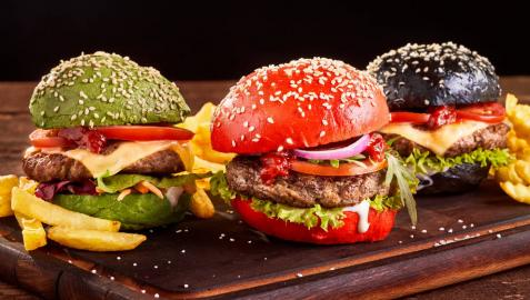 Tres formas de preprarar hamburguesa.