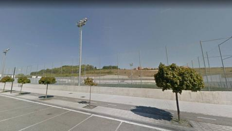 El campo de fútbol de Lezkairu, en la calle Valle de Egüés.