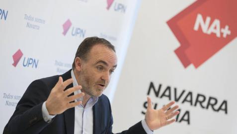 Esparza acusa a Chivite de engañar sobre las inversiones en la Ribera