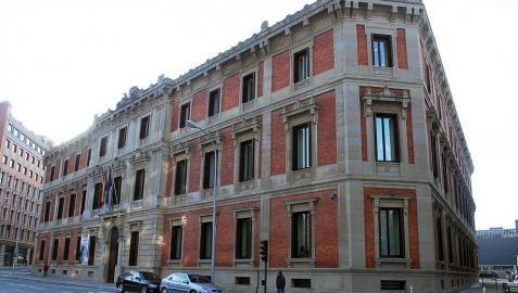 La fachada del Parlamento de Navarra, en una imagen de archivo.