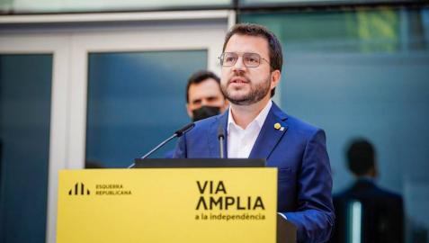 El vicepresidente de la Generalitat en funciones y candidato de ERC a la Presidencia, Pere Aragonès.