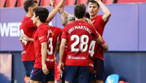 Imágenes del encuentro correspondiente a la Jornada 36 de LaLiga Santander disputado en el estadio de El Sadar