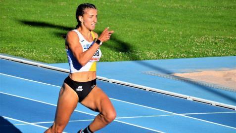 Nerea Bermejo, en una competición del pasado verano.