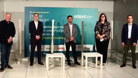 Patxi Larumbe (Cocuus); Ignacio Hernández Goñi (Florette); David Sánchez (Grupo Eroski); Pilar Irigoien (Sodena) y Santiago Sala (Grupo Apex).