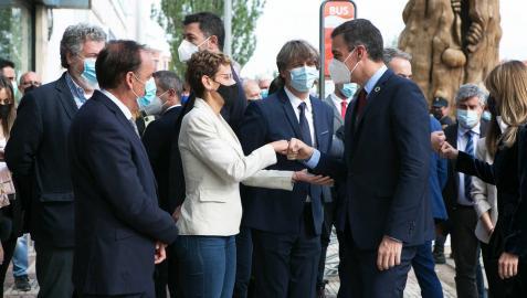 Chivite cierra filas con Sánchez en  los posibles indultos por el 'procés'