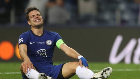 El navarro César Azpilicueta, emocionado tras ganar la Champions League con el Chelsea.