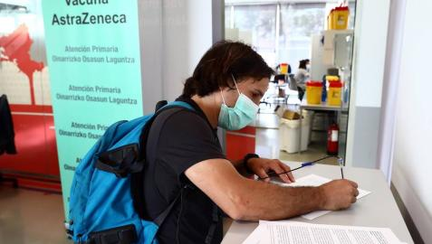 Imágenes de la vacunación en Forem