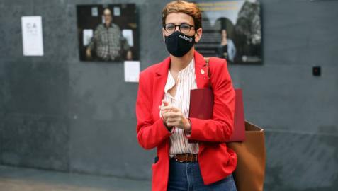 Imagen de archivo de la presidenta María Chivite, en el Parlamento foral.