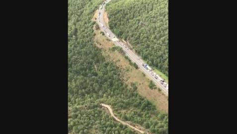 Dos muertos en un accidente de tráfico múltiple en el municipio de Bassella