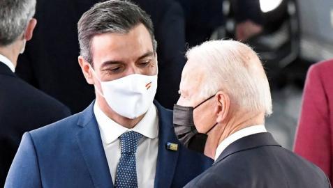 Encuentro entre Joe Biden y Pedro Sánchez.
