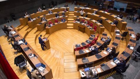 Imagen de un pleno del Parlamento de Navarra.