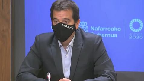 Mikel Irujo, en la rueda de prensa de presentación del Plan Estratégico 2023