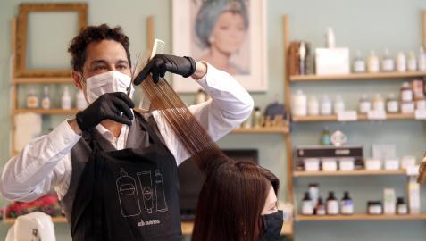 Imagen de archivo de un peluquero.