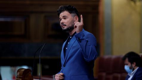 Gabriel Rufián, este miércoles en el Congreso.