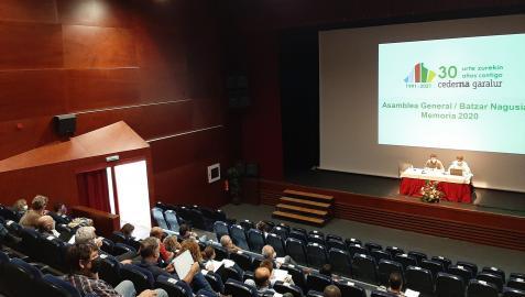 Asamblea de Cederna Garalur en la que se presentaron los proyectos para impulsar el emprendimiento en la Montaña de Navarra
