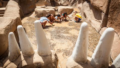 El 'Circuito Paleontológico' incluye una zona para buscar fósiles en una excavación abierta