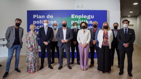 Participantes en la presentación del Plan de Políticas Activas de Empleo de Navarra
