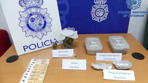 Imagen de las sustancias intervenidas por la Policía Nacional.