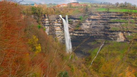 La cascada de Gujuli, en Álava
