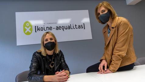 Laura Torres Ausejo (izquierda), responsable de administración de Intor, y Marisa Alonso Quintana, directora ejecutiva de Navanor