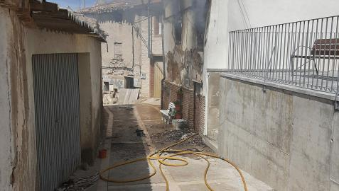 Imagen de la vivienda en la que se ha producido el incendio.